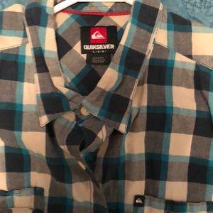 Quicksilver button up SS shirt